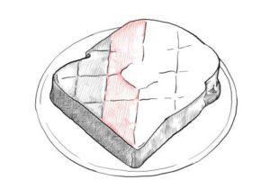 トーストの絵の描き方-初心者でも簡単なイラスト-21