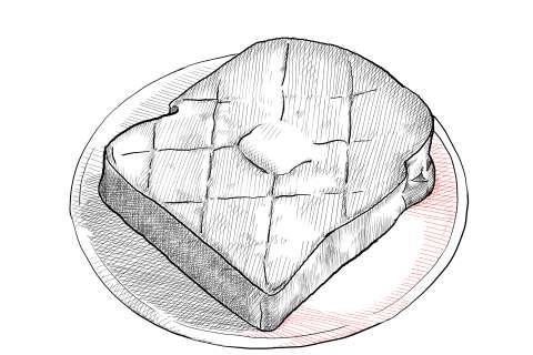 トーストの絵の描き方-初心者でも簡単なイラスト-26