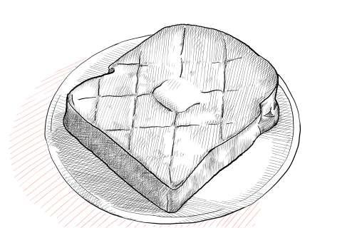 トーストの絵の描き方-初心者でも簡単なイラスト-27