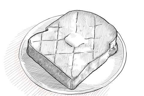 トーストの絵の描き方-初心者でも簡単なイラスト-28