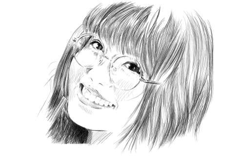 メガネの女性の絵の描き方-初心者でも簡単なイラスト完成