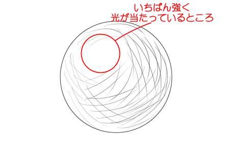 リアルな絵の描き方ー球体のデッサンの書き方2-2