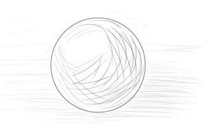 リアルな絵の描き方ー球体のデッサンの書き方2