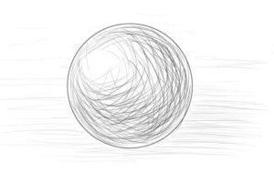 リアルな絵の描き方ー球体のデッサンの書き方3