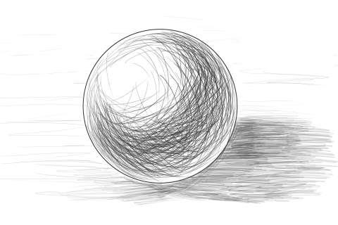 リアルな絵の描き方ー球体のデッサンの書き方4
