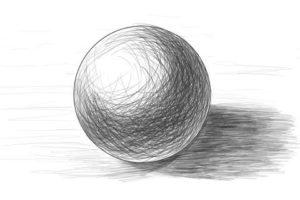 リアルな絵の描き方ー球体のデッサンの書き方5