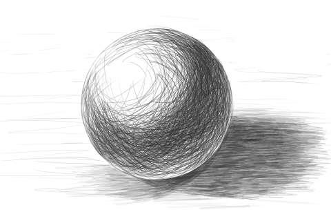 リアルな絵の描き方ー球体のデッサンの書き方6