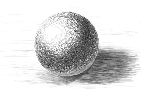 リアルな絵の描き方ー球体のデッサンの書き方7
