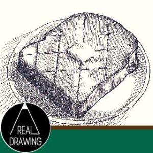 リアルな絵の描き方-トーストの絵の書き方サムネイル