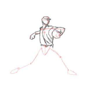 リアルな絵の描き方-ピッチングの絵の描き方5