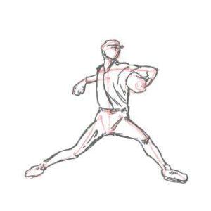 リアルな絵の描き方-ピッチングの絵の描き方6