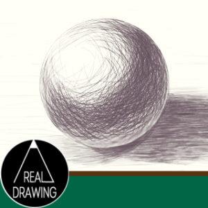 リアルな絵の描き方-球体のスケッチの書き方サムネイル-セピア
