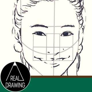 リアルな絵の描き方-顔のアタリの書き方Part2サムネイル
