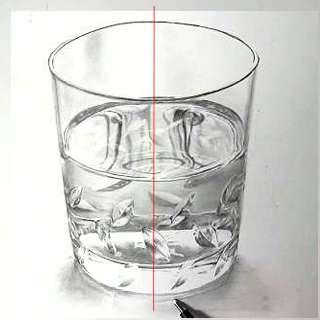 リアル絵の描き方-ウィスキーグラスの書き方1-1