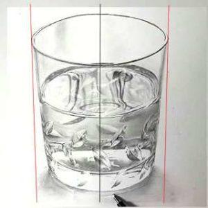 リアル絵の描き方-ウィスキーグラスの書き方1-2