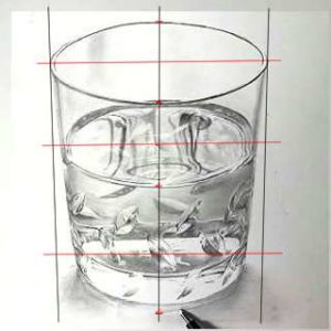 リアル絵の描き方-ウィスキーグラスの書き方1-3