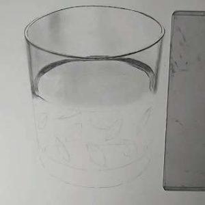 リアル絵の描き方-ウィスキーグラスの書き方13
