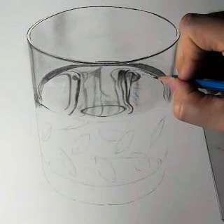 リアル絵の描き方-ウィスキーグラスの書き方14