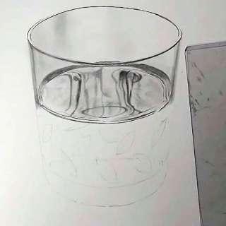 リアル絵の描き方-ウィスキーグラスの書き方16