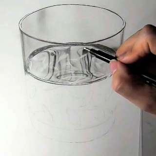 リアル絵の描き方-ウィスキーグラスの書き方18
