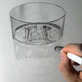 リアル絵の描き方-ウィスキーグラスの書き方19