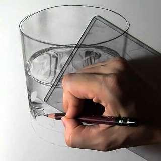 リアル絵の描き方-ウィスキーグラスの書き方20