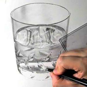 リアル絵の描き方-ウィスキーグラスの書き方25