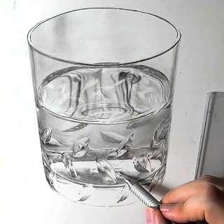 リアル絵の描き方-ウィスキーグラスの書き方26