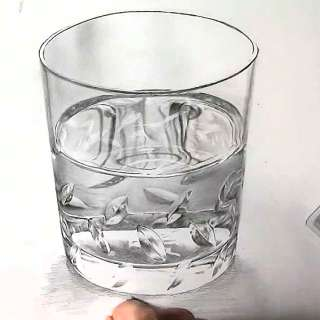 リアル絵の描き方-ウィスキーグラスの書き方27