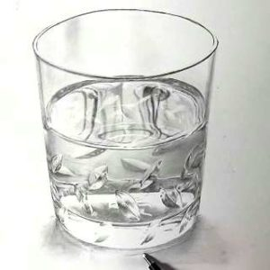 リアル絵の描き方-ウィスキーグラスの書き方28