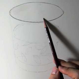 リアル絵の描き方-ウィスキーグラスの書き方7