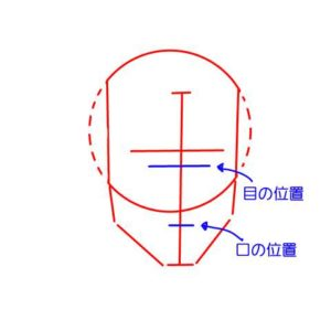 リアル絵の顔のアタリの描き方part2-画像5