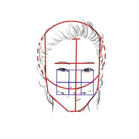 リアル絵の顔のアタリの描き方part2-画像8