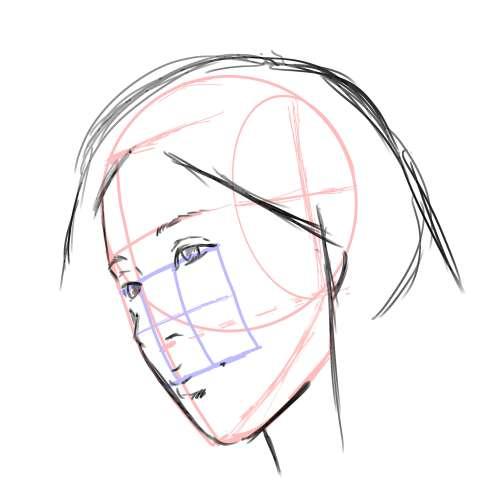 リアル絵の顔のアタリの描き方part3-画像14