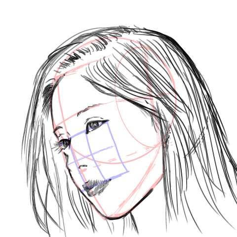リアル絵の顔のアタリの描き方part3-画像15
