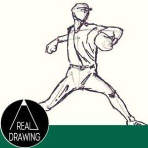 初心者でも簡単な絵の描き方-ポーズの絵の描き方(ピッチングフォーム編)サムネイル