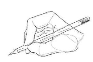 初心者でも簡単な絵の描き方-鉛筆を持った手の描き方11