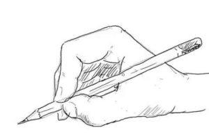 初心者でも簡単な絵の描き方-鉛筆を持った手の描き方13