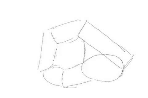 初心者でも簡単な絵の描き方-鉛筆を持った手の描き方5
