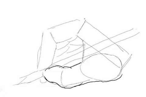初心者でも簡単な絵の描き方-鉛筆を持った手の描き方8