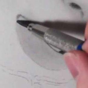 唇の絵の書き方-リアルな鉛筆画の描き方11