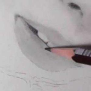 唇の絵の書き方-リアルな鉛筆画の描き方13