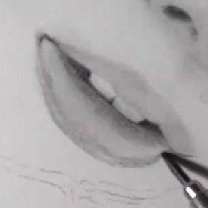唇の絵の書き方-リアルな鉛筆画の描き方15