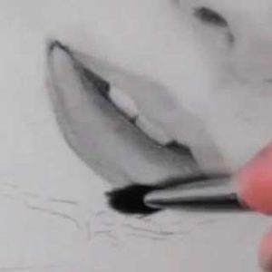 唇の絵の書き方-リアルな鉛筆画の描き方16