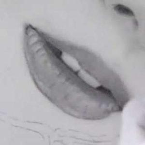 唇の絵の書き方-リアルな鉛筆画の描き方23