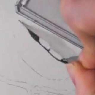唇の絵の書き方-リアルな鉛筆画の描き方7