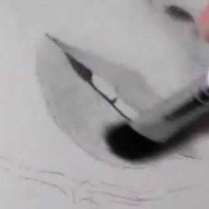 唇の絵の書き方-リアルな鉛筆画の描き方9