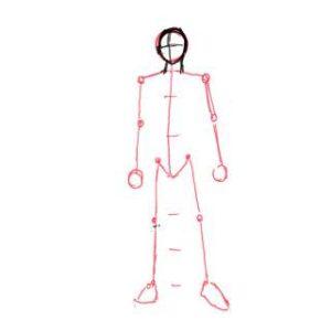 身体の絵の描き方-立ち姿の描き方17