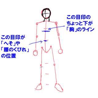 身体の絵の描き方-立ち姿の描き方18