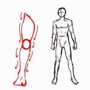 身体の絵の描き方-立ち姿の描き方26